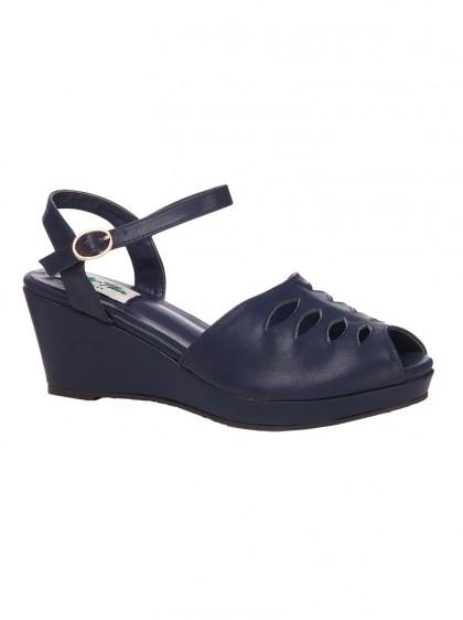 "Chaussures Wedge Vintage Retro Rockabilly Lulu Hun ""Lily"" - rockangehell.com"