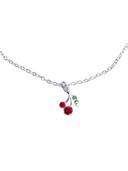 "Collier Rockabilly Pin-Up Retro Collectif ""Cherry"" - rockangehell.com"
