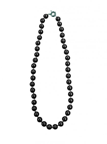 "Collier Perles Pin-Up Rockabilly Vintage Collectif ""Black Pearls"" - rockangehell.com"
