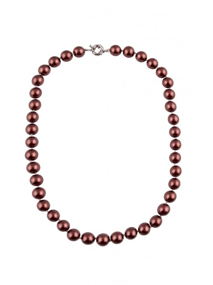 "Collier Perles Rockabilly Retro Pin-Up Années 50 Collectif ""Red Burgundy Pearls"""