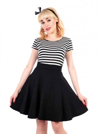 "Jupe Swing Rockabilly Retro Pin-Up Années 50 Collectif ""Tammy Black"" - rockangehell.com"