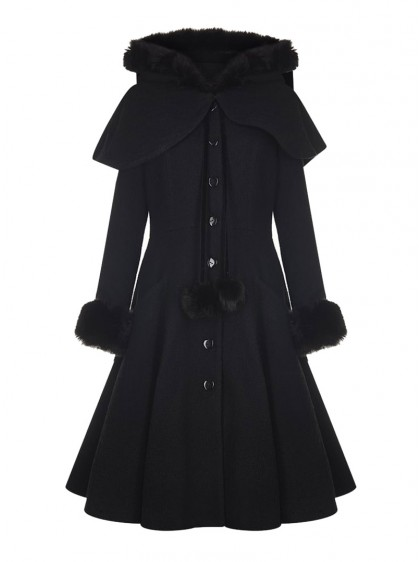 "Manteau + Cape Rockabilly Pin-Up Vintage Collectif ""Adelita"" - rockangehell.com"