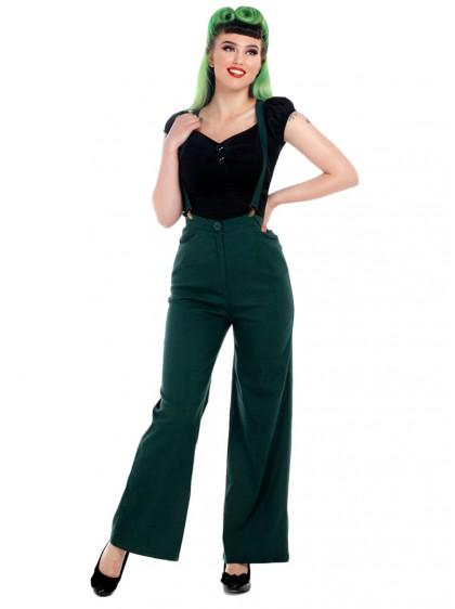 """Pantalon Rockabilly Retro Vintage Collectif """"Glinda"""" - rockangehell.com"""