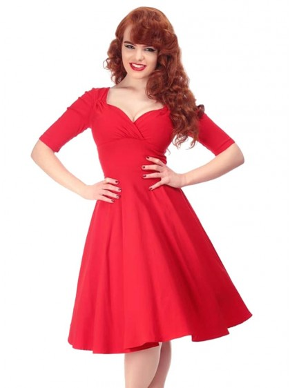 "Robe Années 50 Pin-Up Rockabilly Retro Collectif ""Red Trixie"" - rockangehell.com"