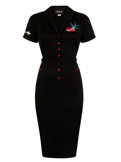 "Robe Crayon Rockabilly Retro Années 50 Vintage Collectif ""Caterina True Love"" - rockangehell.com"