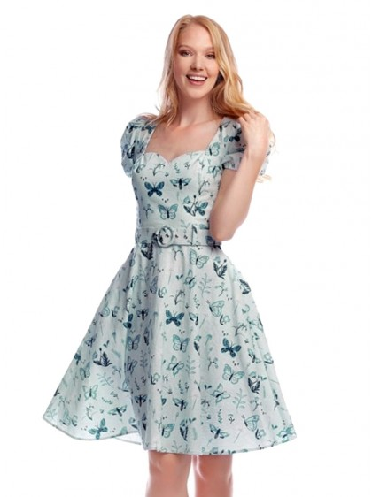 "Robe Retro Rockabilly Pin-Up Collectif ""Paisley Butterfly""- rockangehell.com"