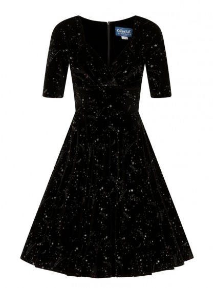 "Robe Soirée Pin-Up Vintage Rockabilly Retro Collectif ""Trixie Make A Wish"" - rockangehell.com"