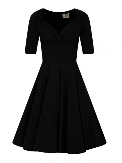 "Robe Pin-Up Années 50 Rockabilly Vintage Collectif ""Black Trixie"" - rockangehell.com"