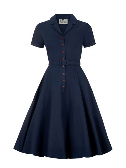 "Robe Bleu Vintage Rockabilly Retro Collectif ""Caterina Blue"" - rockangehell.com"