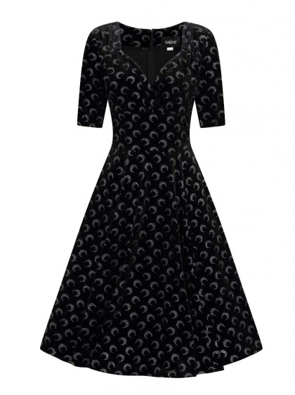 "Robe Soirée Retro Vintage Rockabilly Collectif ""Trixie Glitter Moon"" - rockangehell.com"