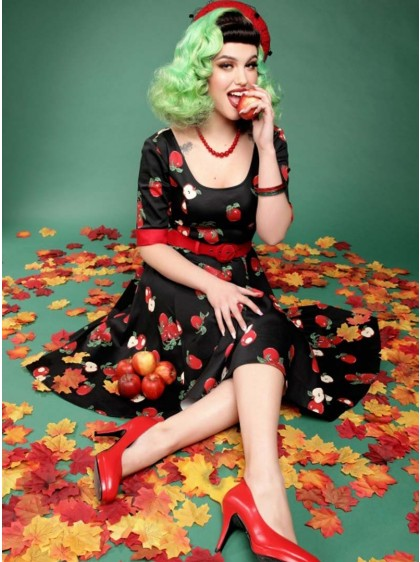 "Robe Pin-Up Retro Rockabilly Collectif ""Apple June""- rockangehell.com"