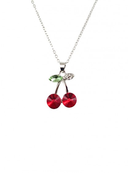 "Collier Rockabilly Pin-Up Vintage ""Cherry"" - rockangehell.com"