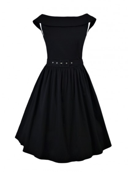 "Robe mi-longue Rockabilly Pin-Up Swing Dolly And Dotty ""Cindy Black"" - rockangehell.com"