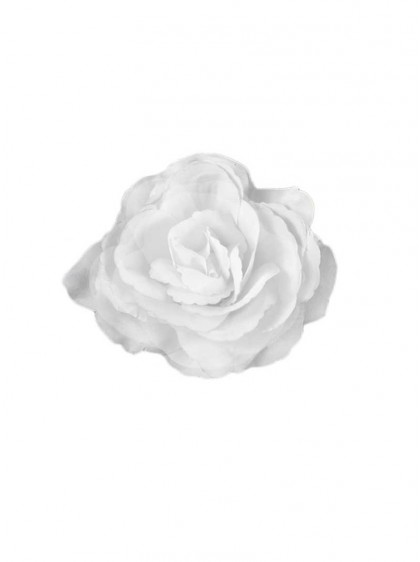 "Barrette Rockabilly Années 50 Poizen Industries (Evil Clothing) ""White Flower"" - rockangehell.com"