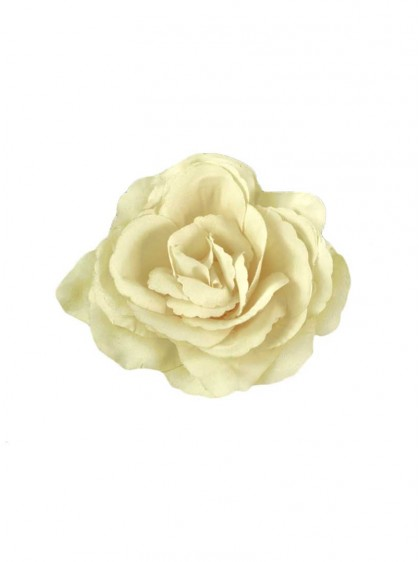 "Barrette Rockabilly Années 50 Poizen Industries (Evil Clothing) ""Beige Flower"" - rockangehell.com"