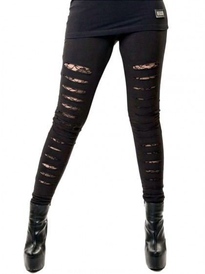 "Legging rock punk Vixxsin (Evil Clothing) ""Slasher"""