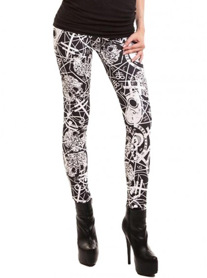 "Legging Gothique Rock Heartless (Evil Clothing) ""Occult"""