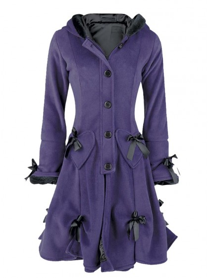 "Manteau Gothique Lolita Poizen Industries (Evil Clothing) ""Alice Purple"""