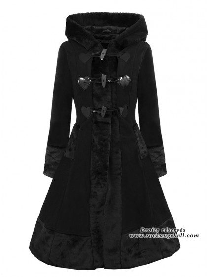 "Manteau Rockabilly Gothique Lolita Poizen Industries (Evil Clothing) ""Minx"" - rockangehell.com"