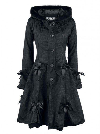 "Manteau Gothique Lolita Poizen Industries (Evil Clothing) ""Black Rose"" - rockangehell.com"
