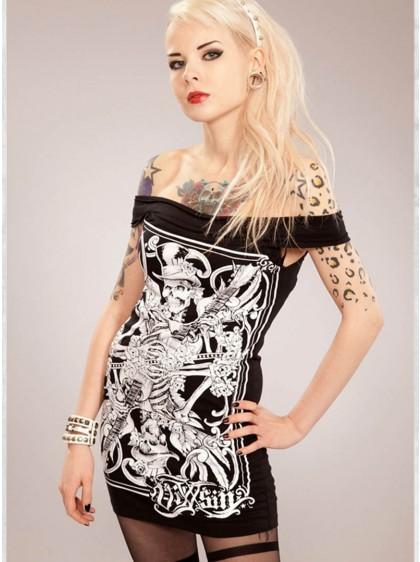 """Top Débardeur rock punk gothique Vixxsin (Evil Clothing) """"Fiddler"""""""