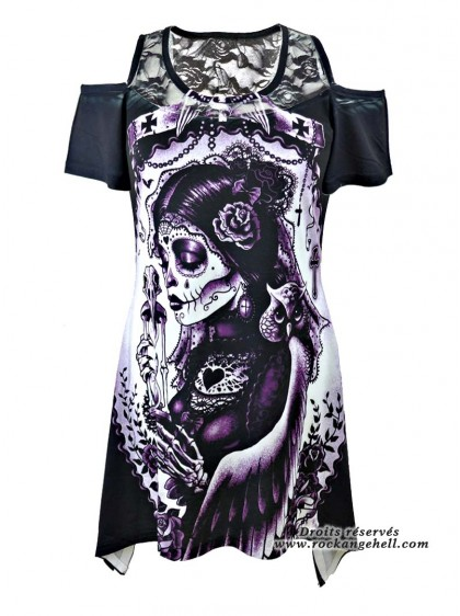 "Débardeur Rock Gothique Vixxsin (Evil Clothing) ""Funeral"" - rockangehell.com"