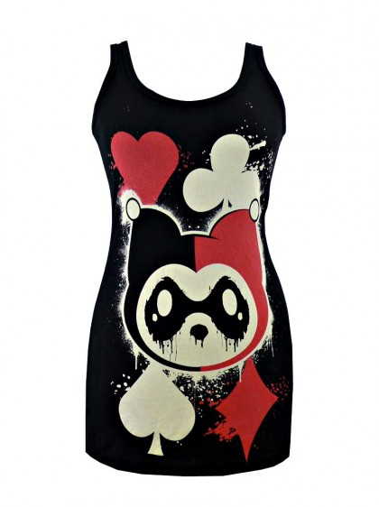 "Débardeur Rock Killer Panda (Evil Clothing) ""KP Card"" - rockangehell.com"