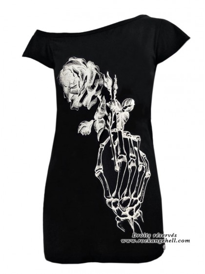 "Débardeur Rock Gothique Heartless (Evil Clothing) ""Last Love"" - rockangehell.com"