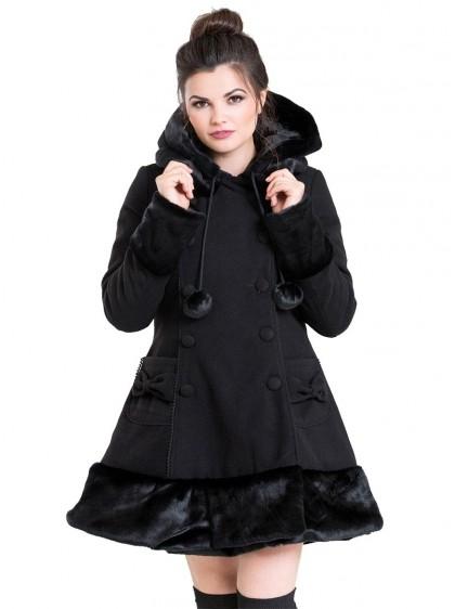 "Manteau Noir Gothique Lolita Hell Bunny ""Sarah Jane"""