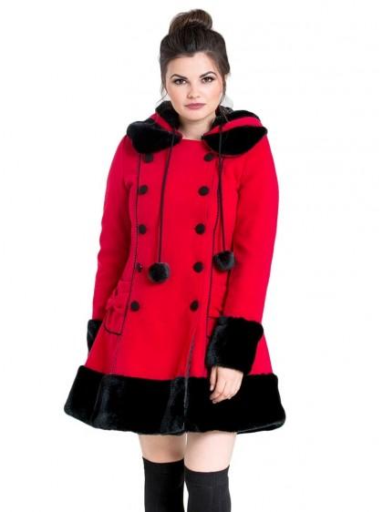 """Manteau Rouge Gothique Lolita Hell Bunny """"Sarah Jane"""""""