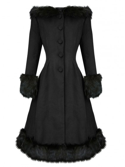 "Manteau Rockabilly Pin-Up Lolita Hell Bunny ""Elvira Black"" - rockangehell.com"