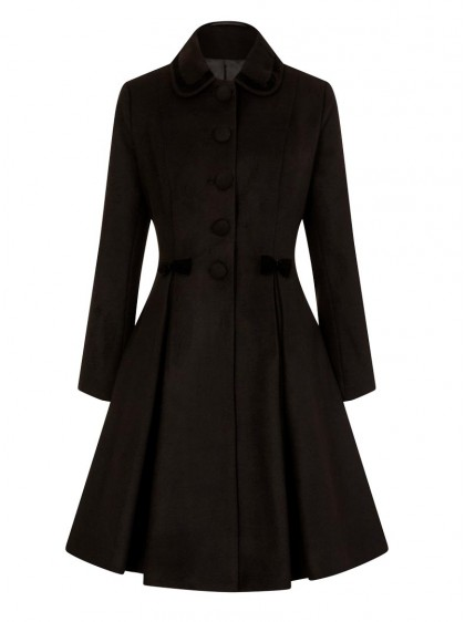 "Manteau Retro Rockabilly Pin-Up Hell Bunny ""Olivia Black"" - rockangehell.com"