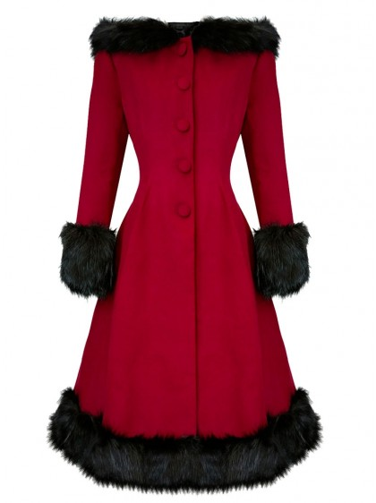 "Manteau Retro Rockabilly Pin-Up Lolita Hell Bunny ""Elvira Red"" - rockangehell.com"