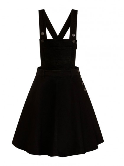 "Robe Salopette Rock Pin-Up Rockabilly Hell Bunny ""Pinafore Dakota Black"" - rockangehell.com"