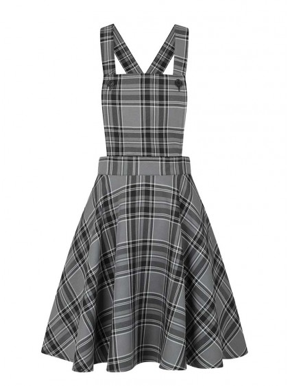 "Robe Rock Punk Rockabilly Hell Bunny ""Islay Pinafore Grey"" - rockangehell.com"
