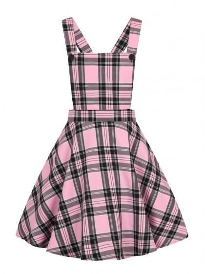 "Robe Rockabilly Rock Punk Hell Bunny ""Islay Pinafore Pink"" - rockangehell.com"