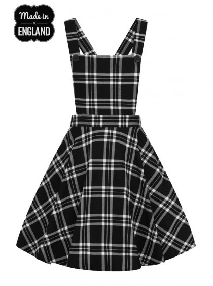 "Robe Rockabilly Rock Punk Hell Bunny ""Islay Pinafore Black"" - rockangehell.com"