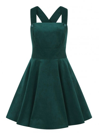 "Robe Retro Rockabilly Rock Hell Bunny ""Wonder Years Pinafore Green"" - rockangehell.com"