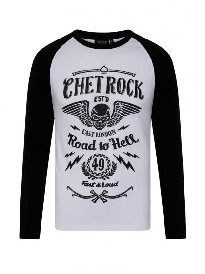 "Tee-shirt manches longues homme Rockabilly Rock Chet Rock ""Road To Hell"" - rockangehell.com"