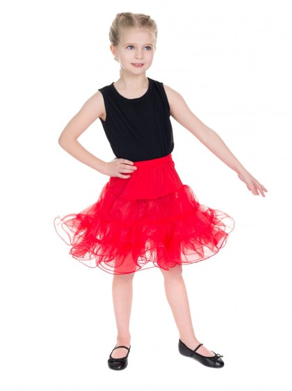"Jupon Enfant Fille Vintage Rockabilly Retro HR London ""Red"" - rockangehell.com"