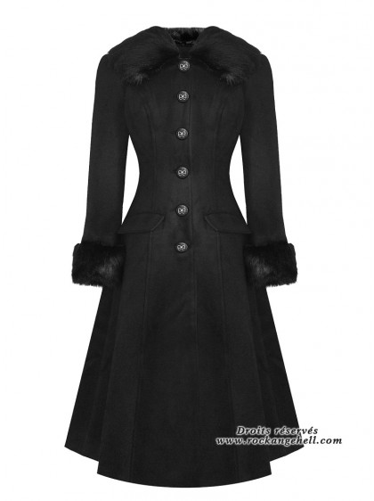"Manteau Rockabilly Pin-Up Années 50 HR London ""Marylin"" - rockangehell.com"
