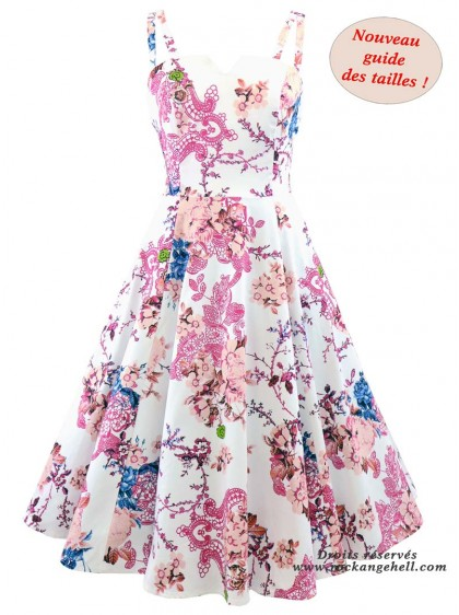 "Robe Rockabilly Pin-Up Retro HR London ""Heavenly"" - rockangehell.com"