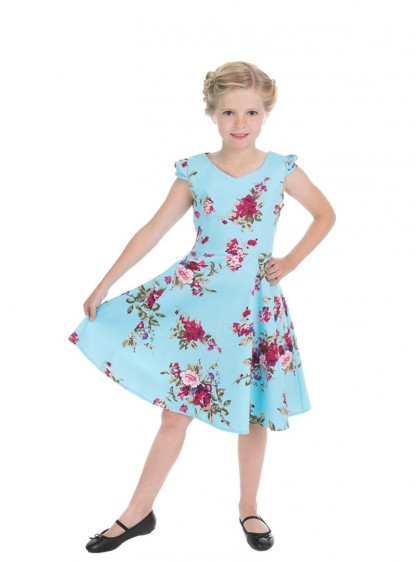 "Robe Enfant Fille Rockabilly Retro Vintage HR London ""Royal Ballet"" - rockangehell.com"