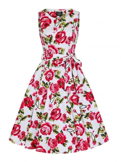 "Robe Années 50 Rockabilly Pin-Up HR London ""Sweet Rose"" - rockangehell.com"