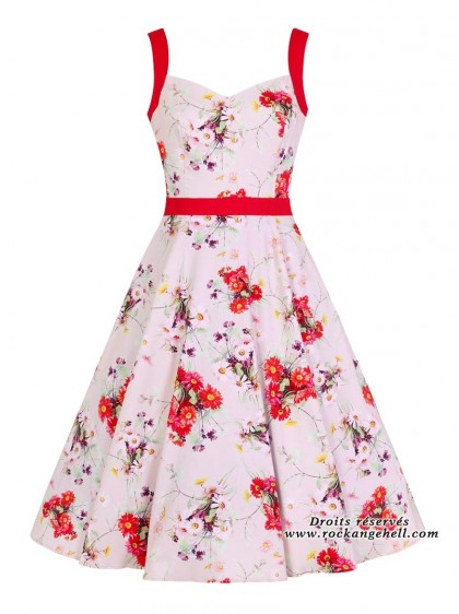 "Robe Rockabilly Années 50 Pin-Up HR London ""Deborah"" - rockangehell.com"