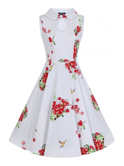 "Robe Retro Pin-Up Années 50 HR London ""Berry"" - rockangehell.com"