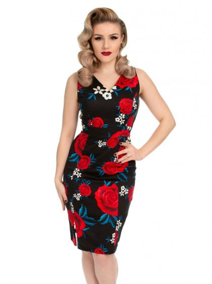 "Robe Crayon Pin-Up Retro Rockabilly HR London ""Sylvia"" - rockangehell.com"