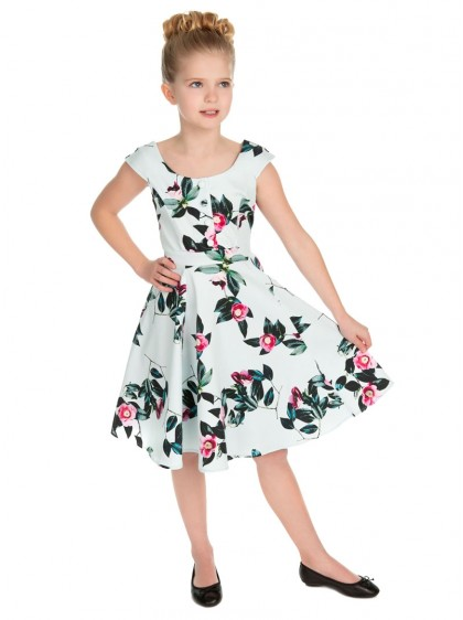 "Robe Enfant Fille Rockabilly Retro Vintage HR London ""Mademoiselle Swing"" - rockangehell.com"