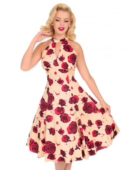 "Robe Pin-Up Retro Rockabilly HR London ""Lucinda Floral"" - rockangehell.com"