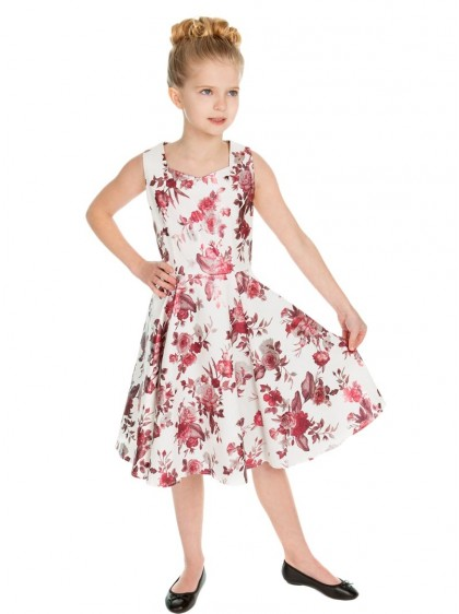 "Robe Enfant Fille Rockabilly Vintage HR London ""Aphrodite Metallic"" - rockangehell.com"